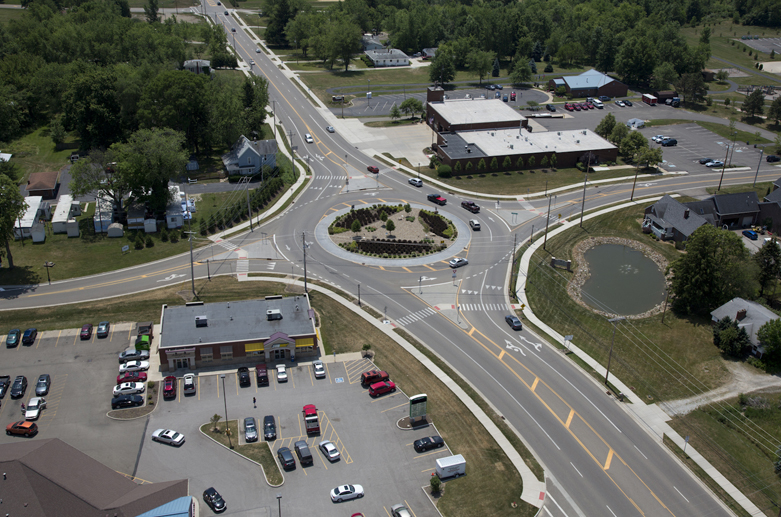 Massillon Road/Steese Road Roundabout