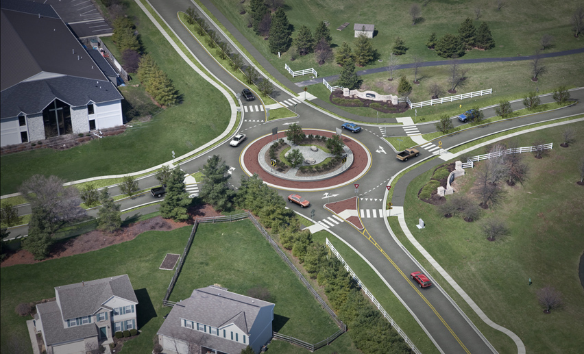 Mason Road and Hickory Woods Drive Roundabout