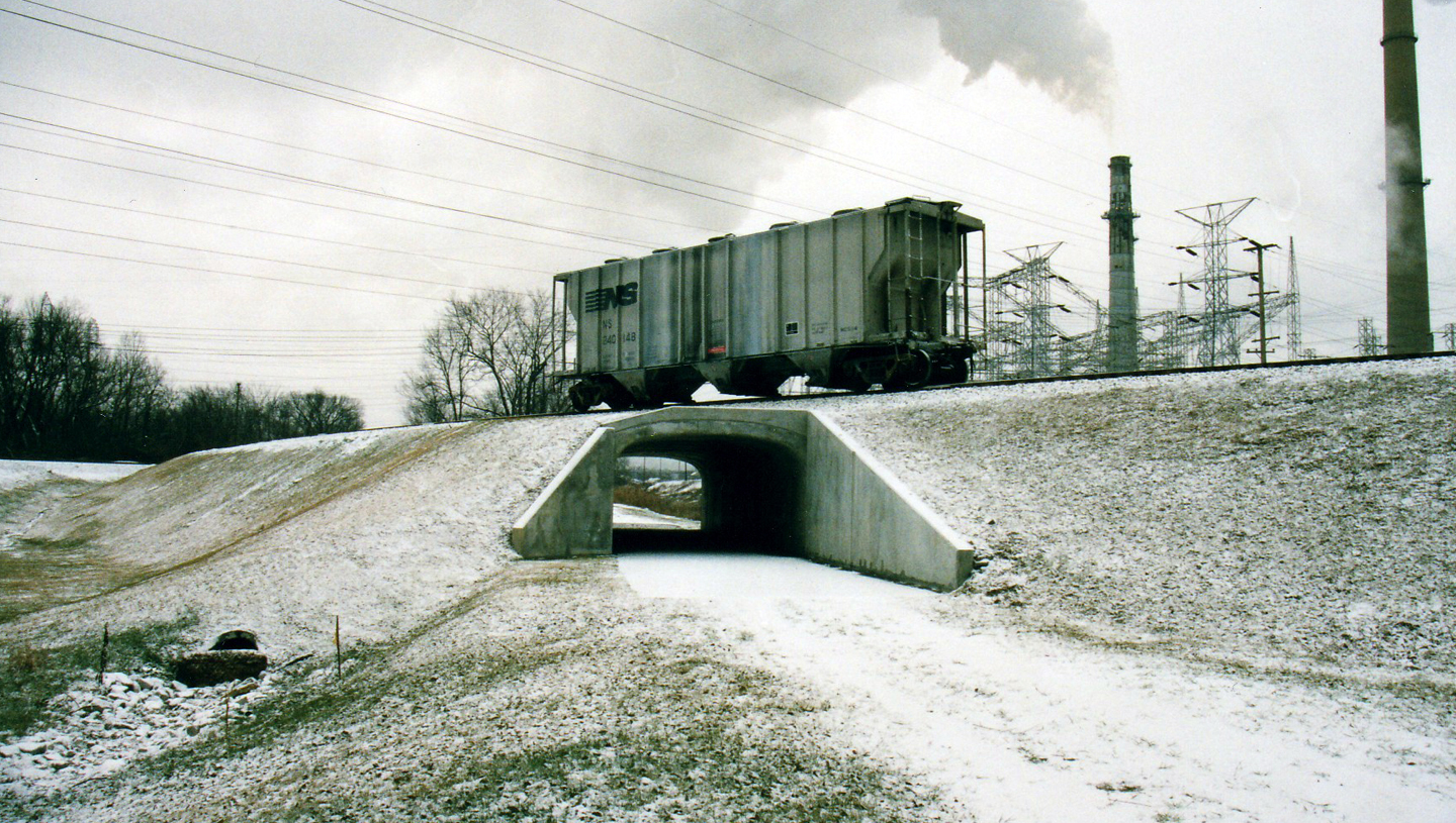 AEP RR Spur over Lawrenceburg Trail Bridge