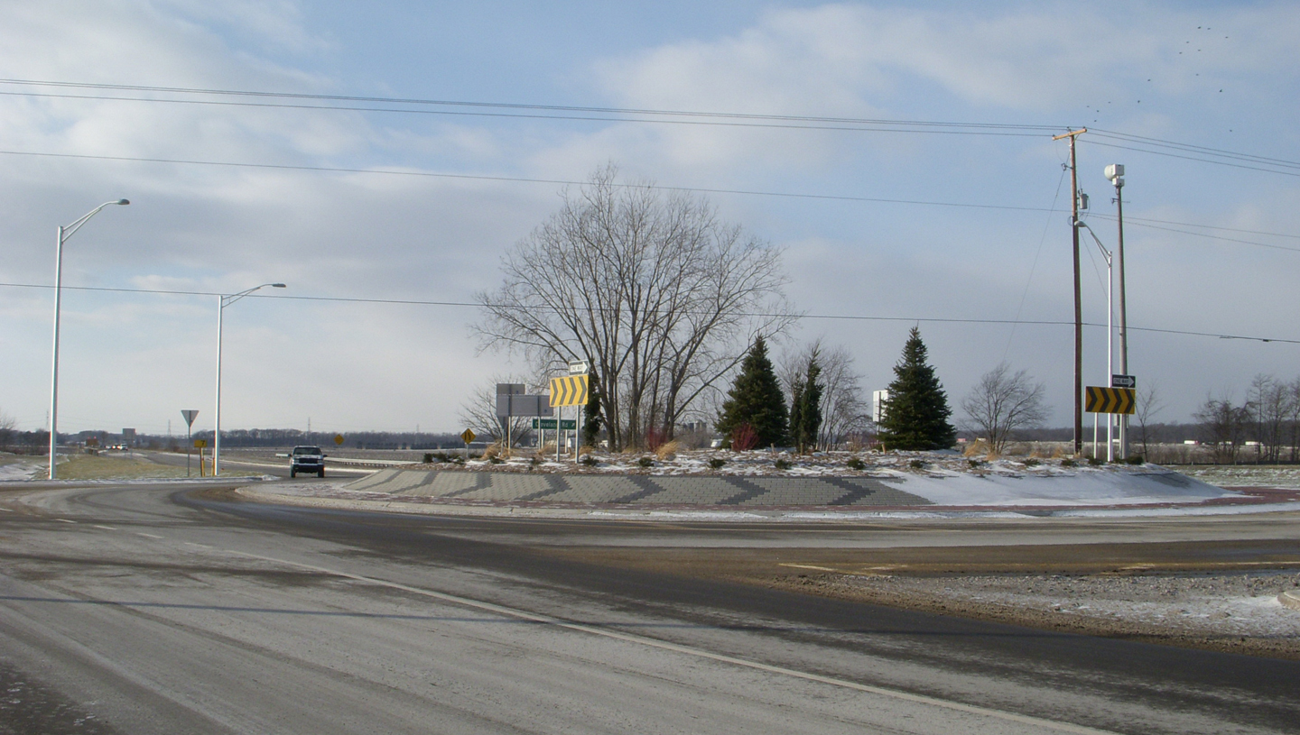 Cleveland Road and Bittersweet Road Roundabout
