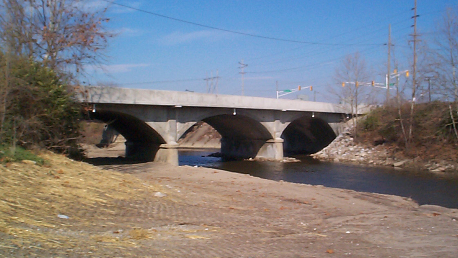 Kentucky Avenue Bridge over Big Eagle Creek
