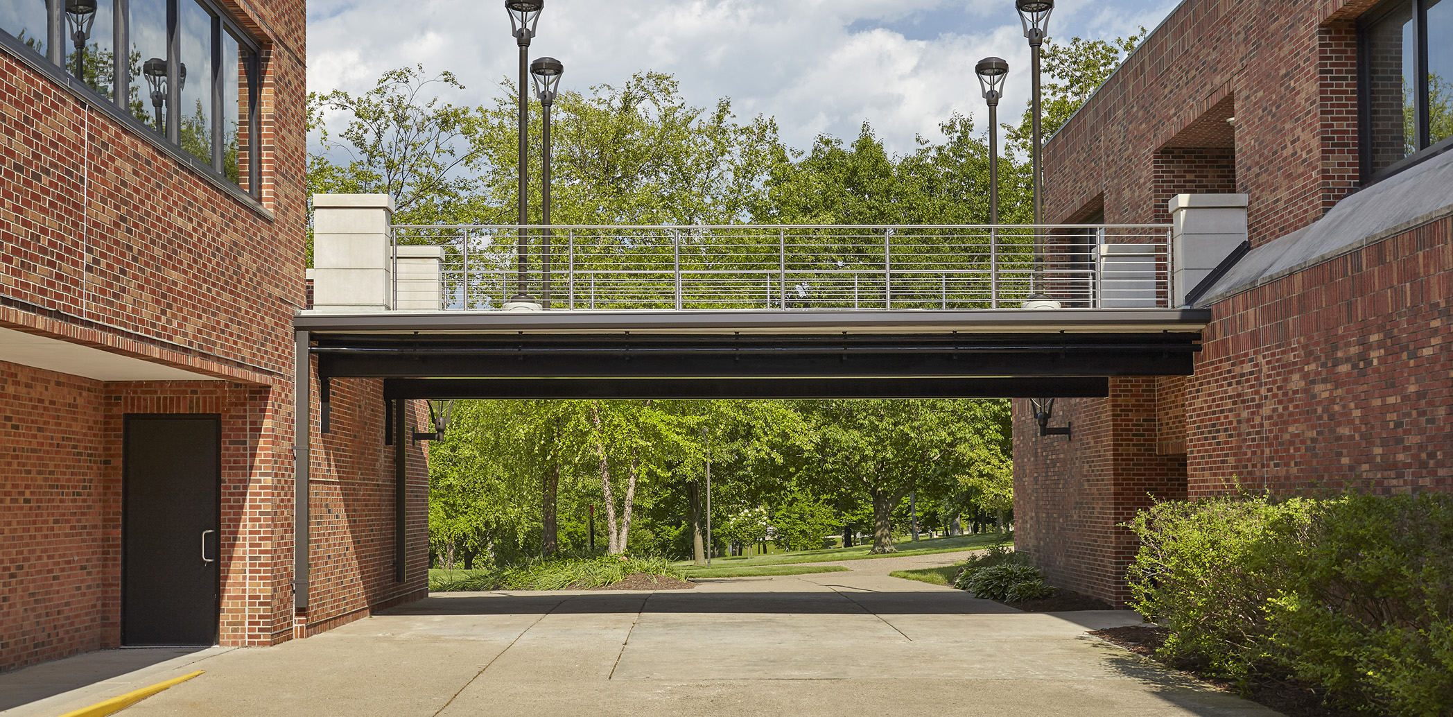 Indiana University Hillside Hall Pedestrian Bridge