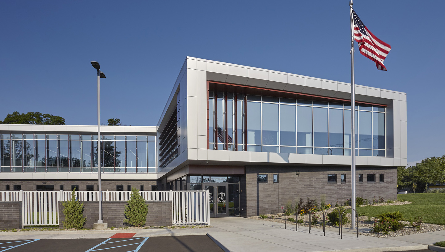 Michigan city police station american structurepoint - Garden city michigan police department ...