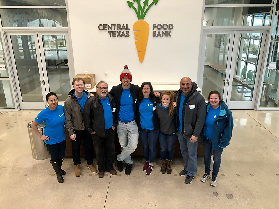 Austin Employees Volunteer at Central Texas Food Bank